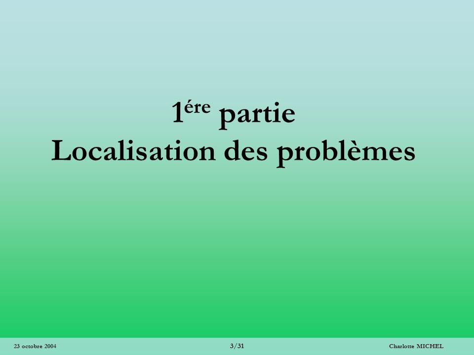 1ére partie Localisation des problèmes