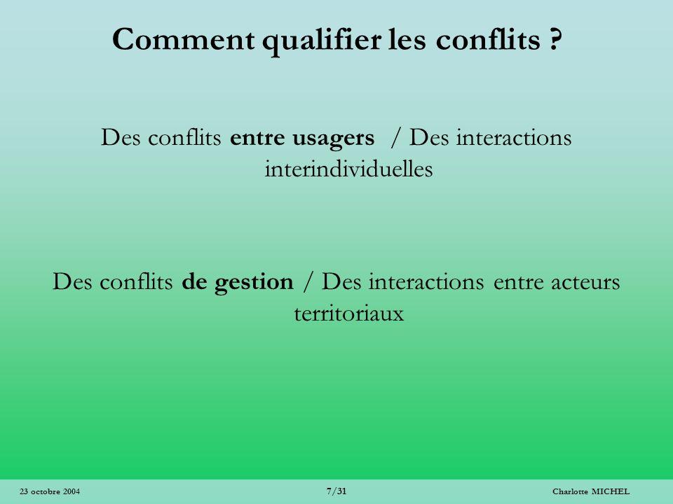 Comment qualifier les conflits