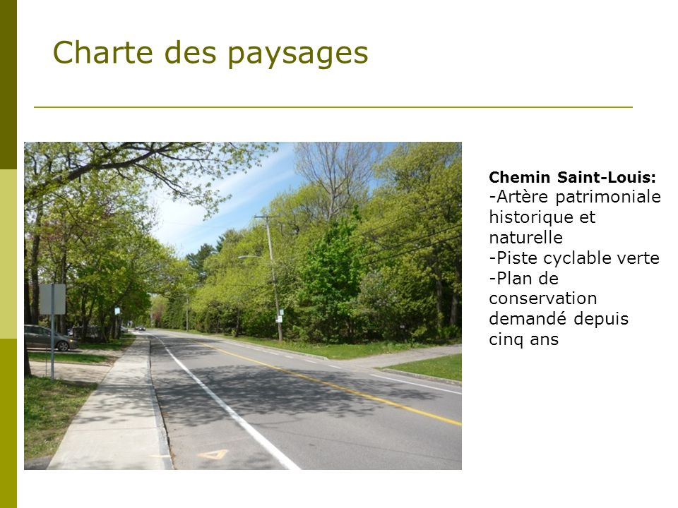Charte des paysages Artère patrimoniale historique et naturelle