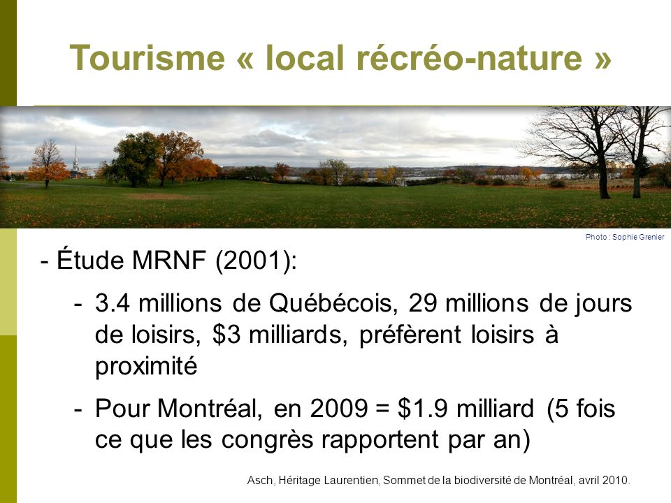Tourisme « local récréo-nature »