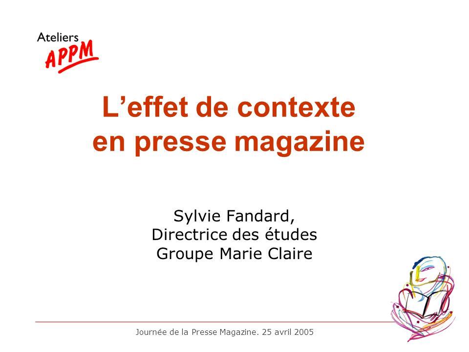 L'effet de contexte en presse magazine