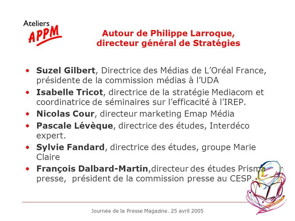 Autour de Philippe Larroque, directeur général de Stratégies
