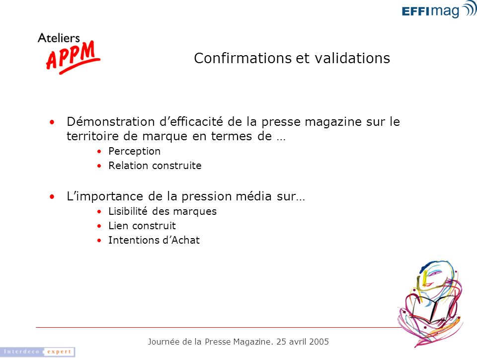 Confirmations et validations