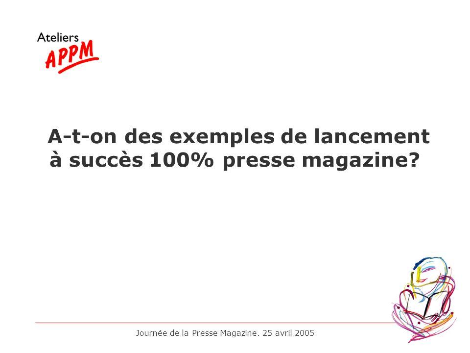 A-t-on des exemples de lancement à succès 100% presse magazine