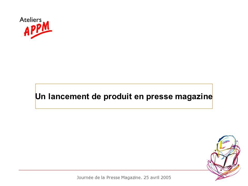 Un lancement de produit en presse magazine