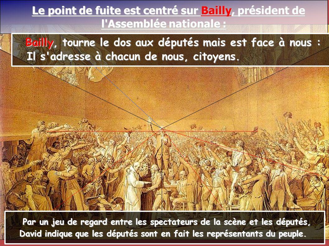 Le point de fuite est centré sur Bailly, président de