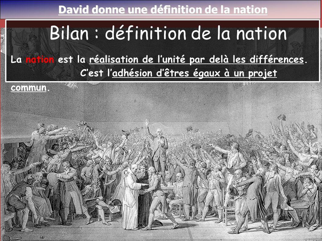 Bilan : définition de la nation