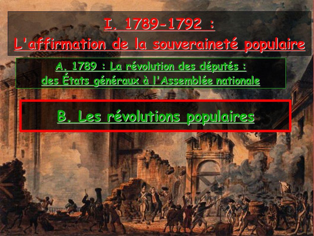 I. 1789-1792 : L affirmation de la souveraineté populaire