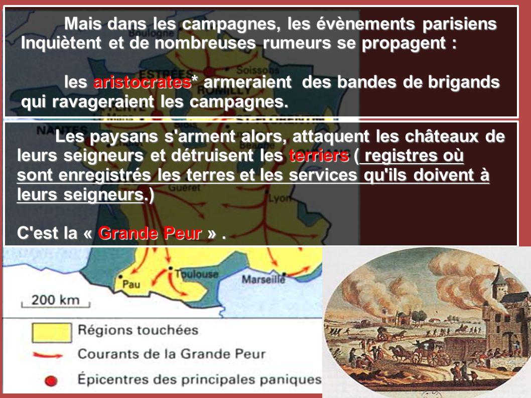 Mais dans les campagnes, les évènements parisiens
