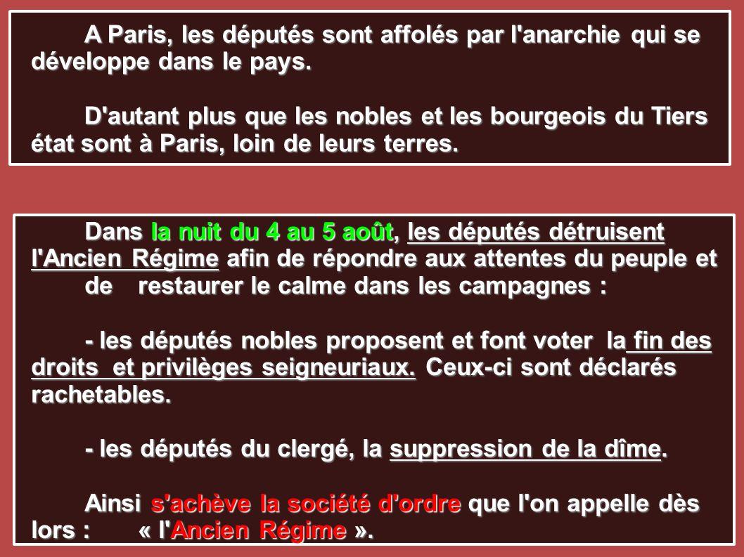A Paris, les députés sont affolés par l anarchie qui se