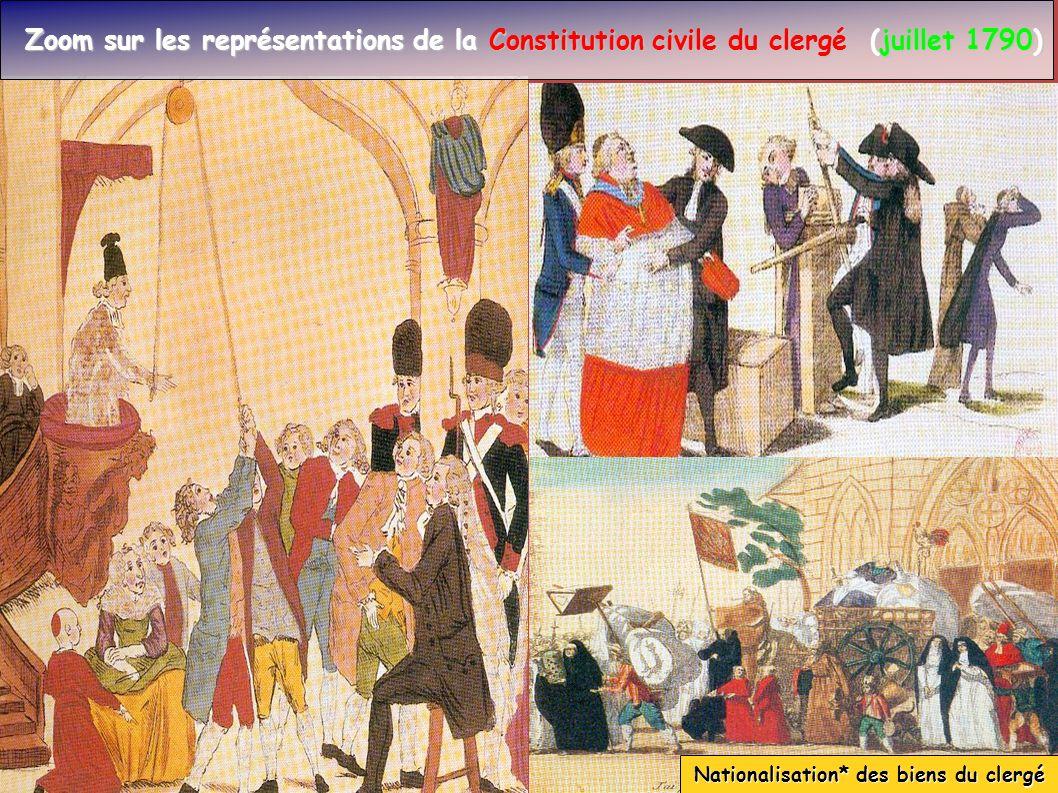 Nationalisation* des biens du clergé