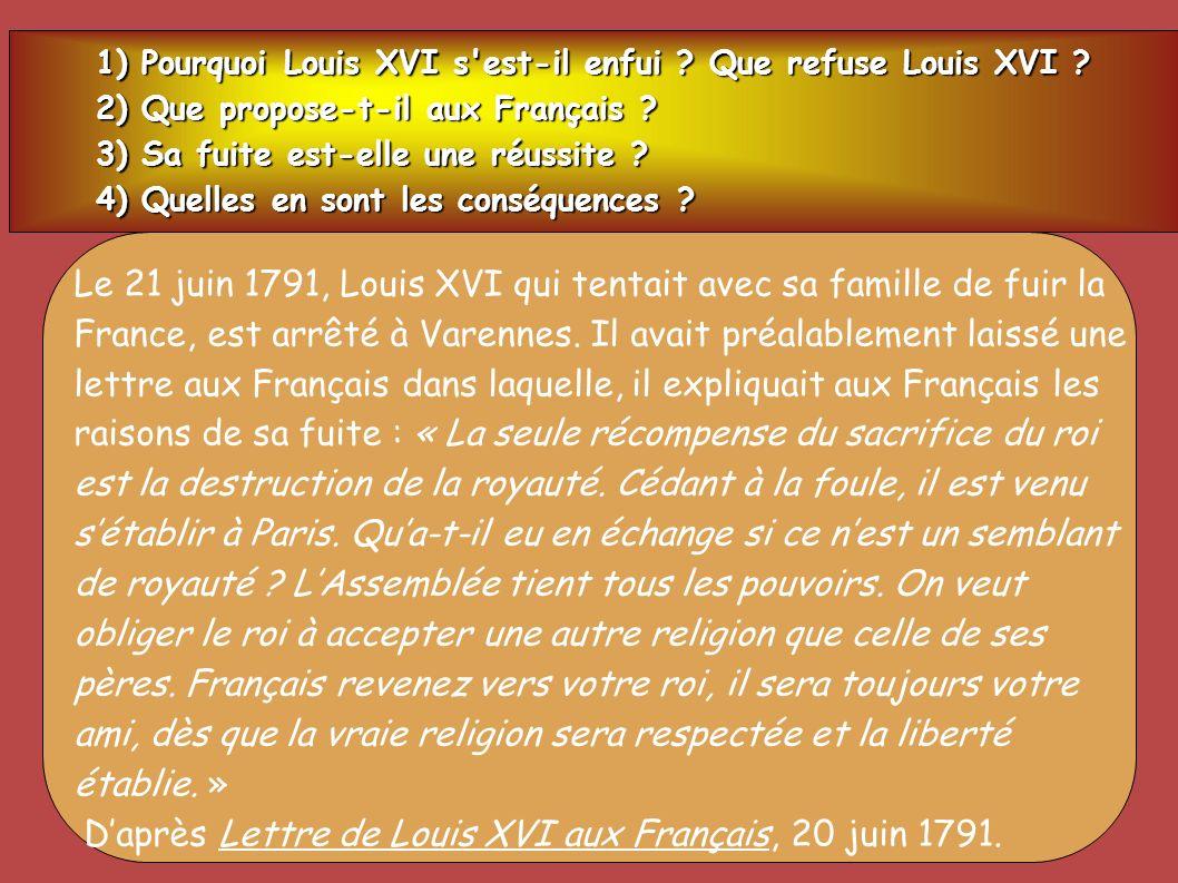 D'après Lettre de Louis XVI aux Français, 20 juin 1791.