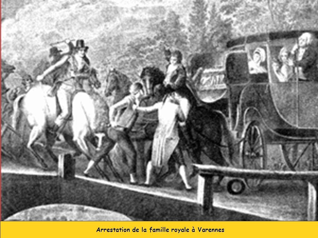 Arrestation de la famille royale à Varennes