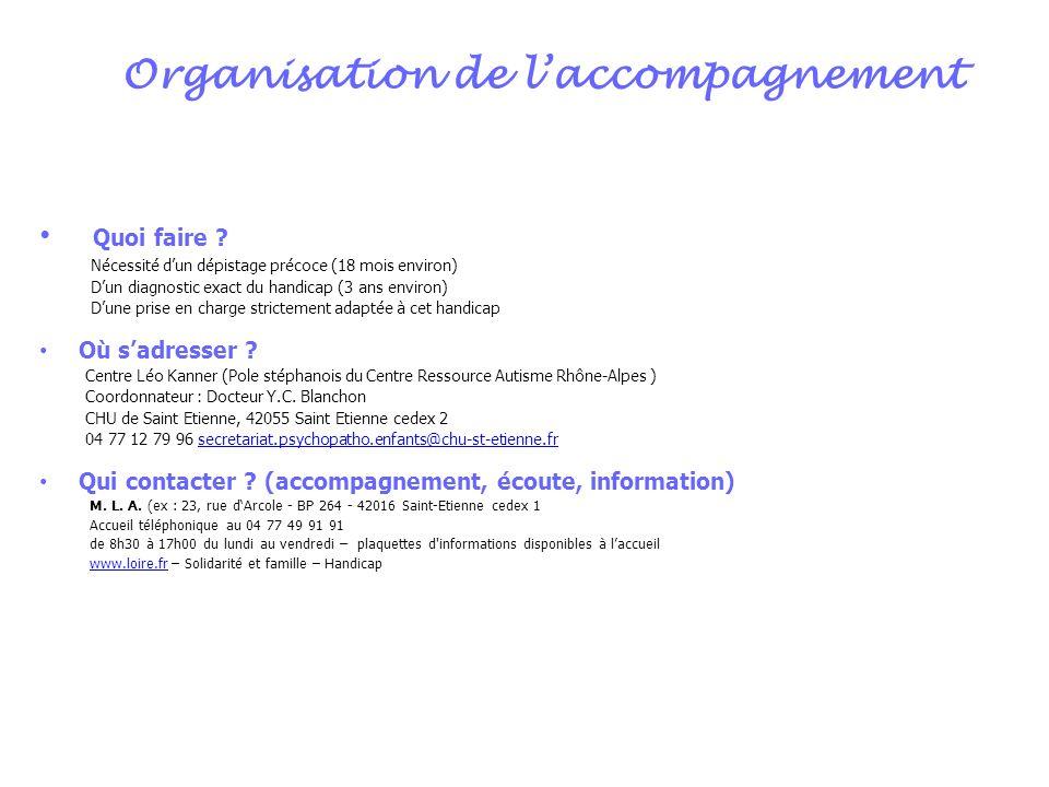 Organisation de l'accompagnement
