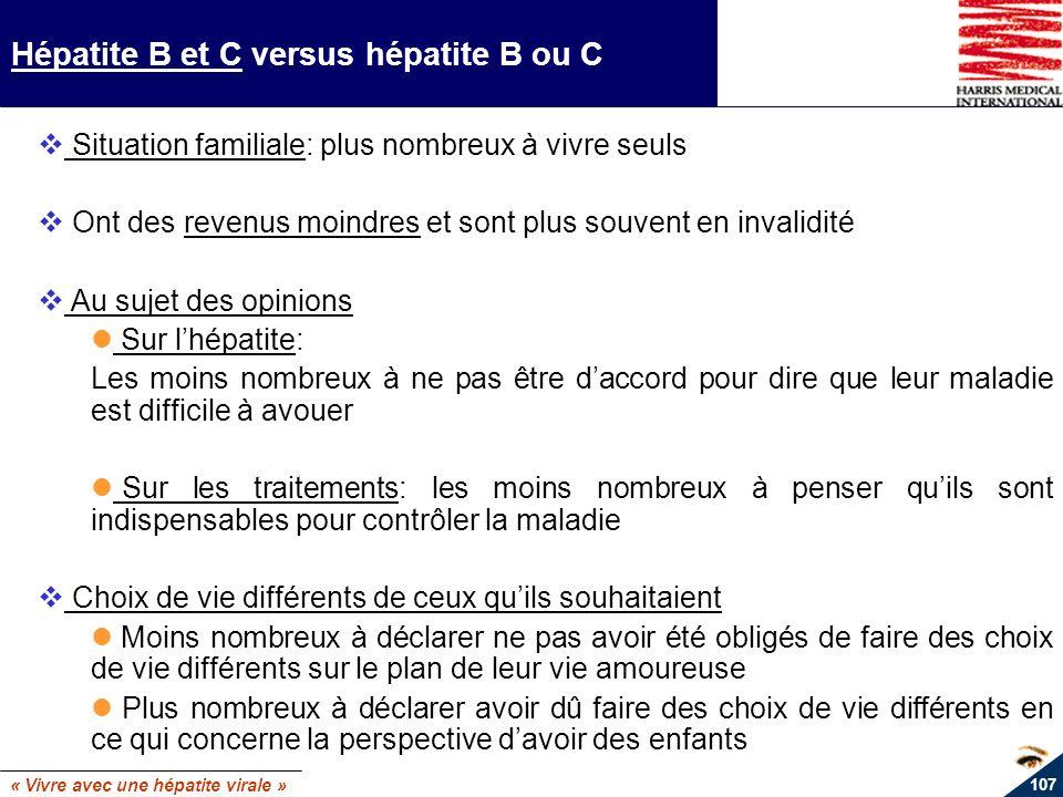 Hépatite B et C versus hépatite B ou C