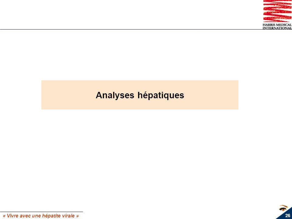 Analyses hépatiques