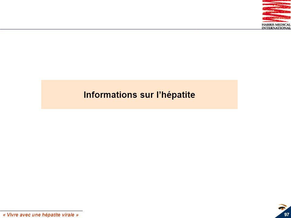 Informations sur l'hépatite