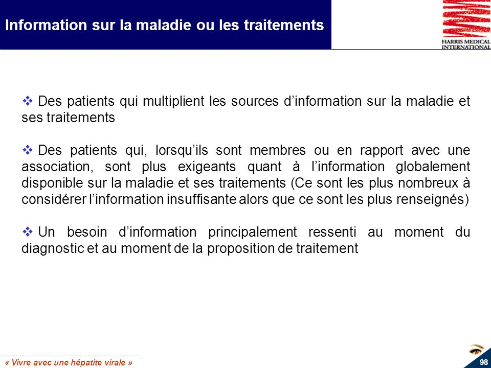 Information sur la maladie ou les traitements