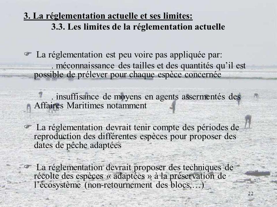 3. La réglementation actuelle et ses limites:. 3. 3