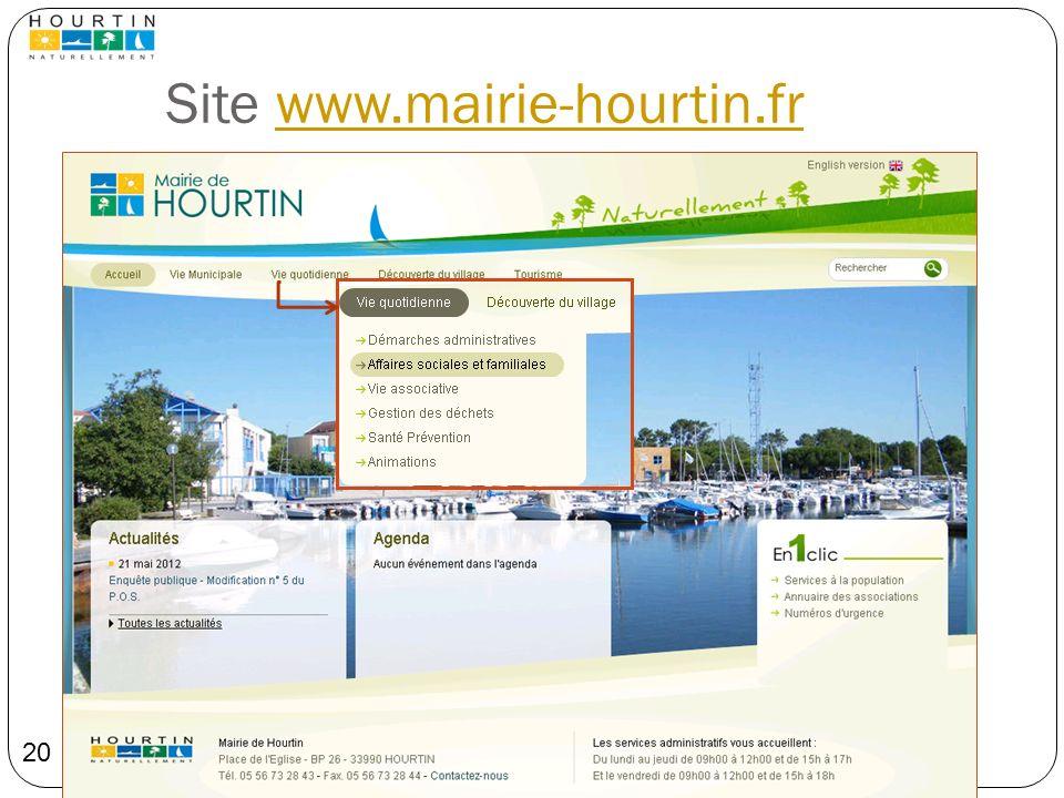Site www.mairie-hourtin.fr