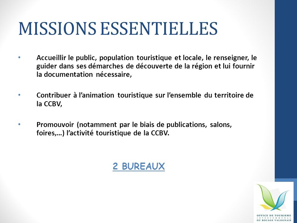 MISSIONS ESSENTIELLES