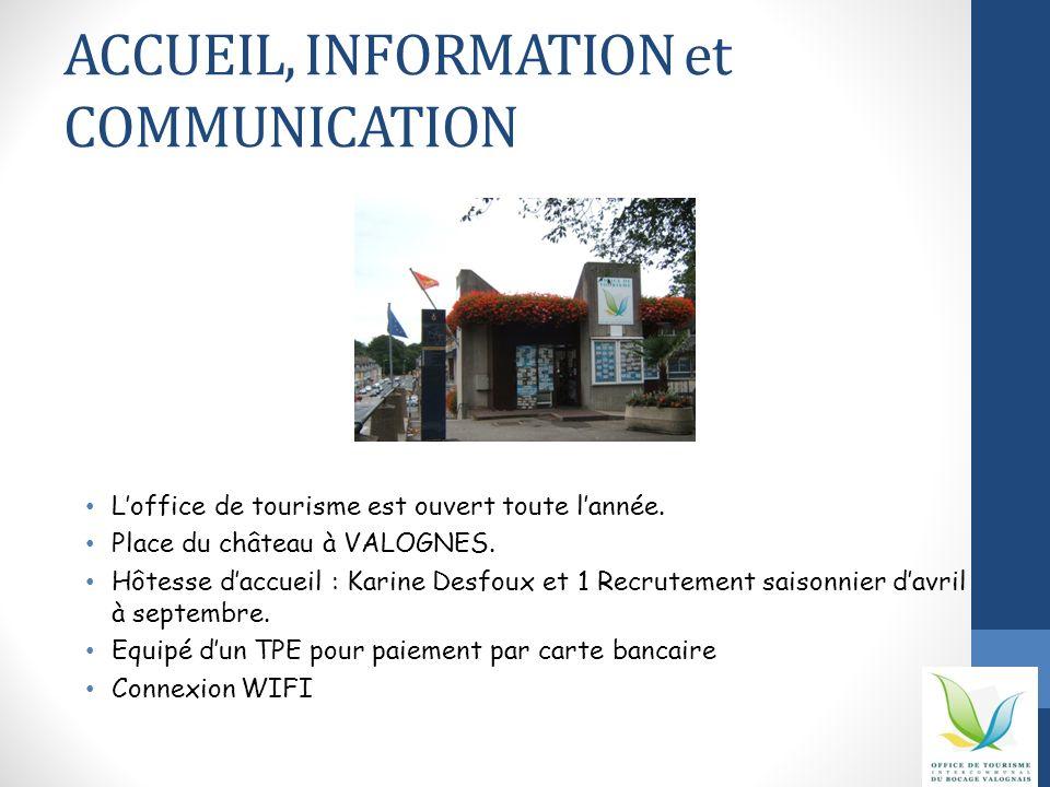 ACCUEIL, INFORMATION et COMMUNICATION