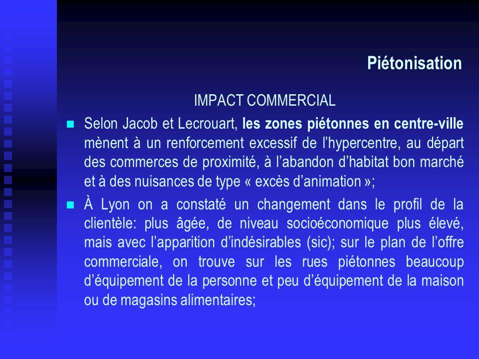 Piétonisation IMPACT COMMERCIAL
