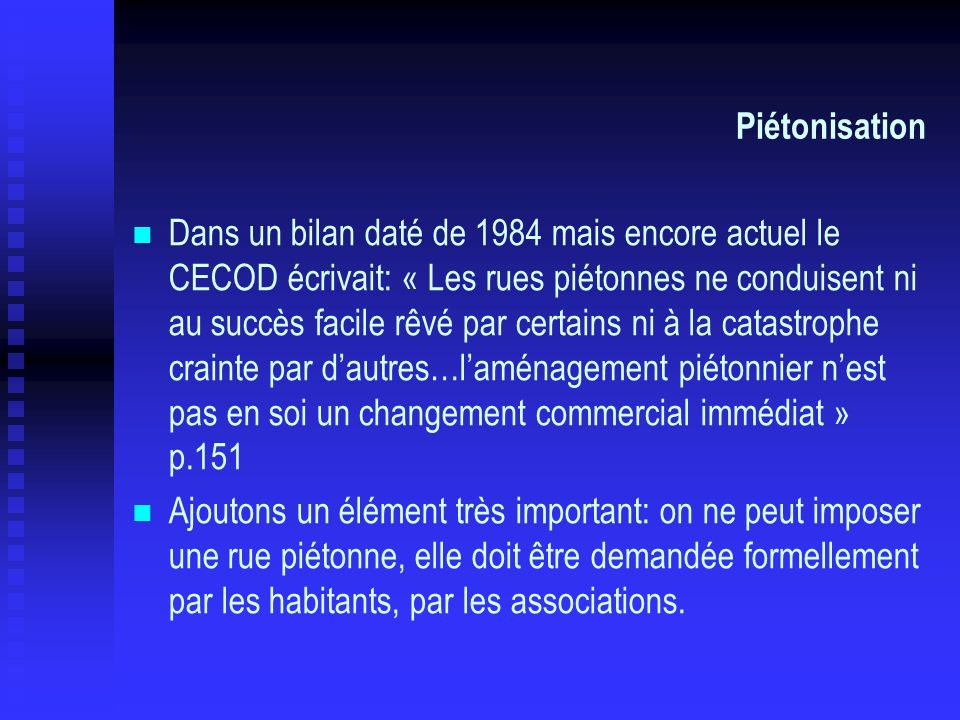 Piétonisation