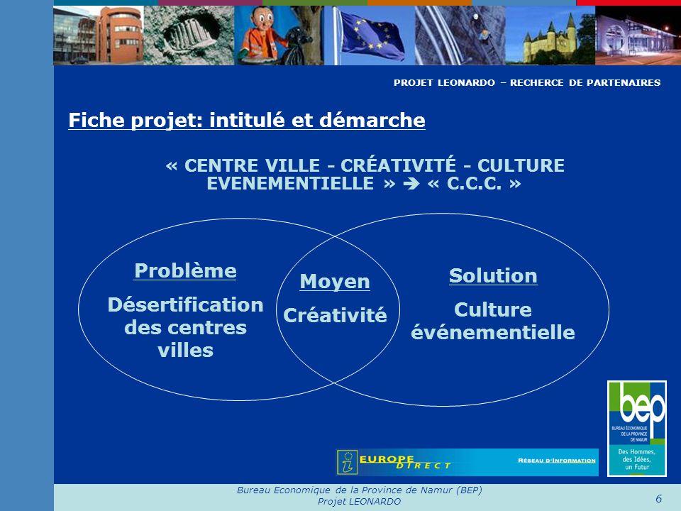 Désertification des centres villes Culture événementielle