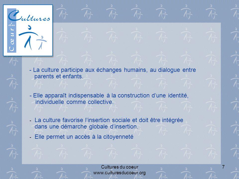 Cultures du coeur www.culturesducoeur.org