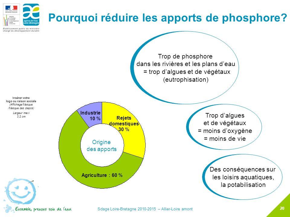 Pourquoi réduire les apports de phosphore
