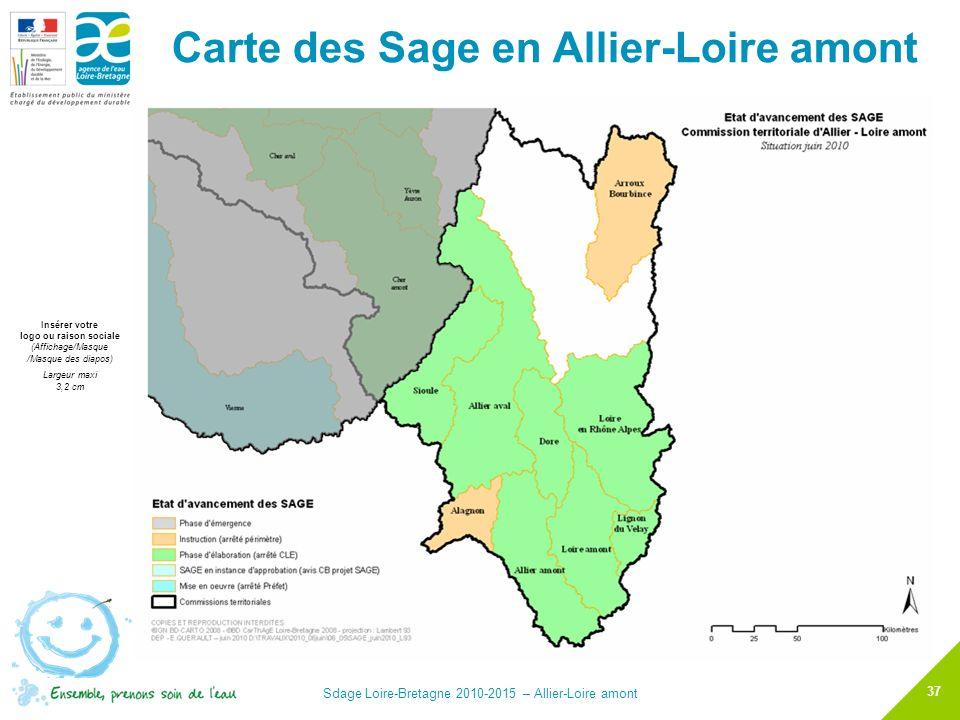 Carte des Sage en Allier-Loire amont
