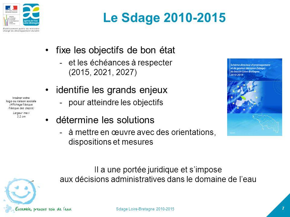 Le Sdage 2010-2015 fixe les objectifs de bon état