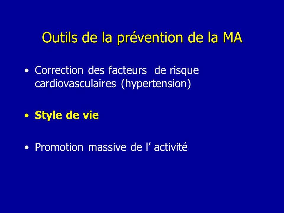 Outils de la prévention de la MA