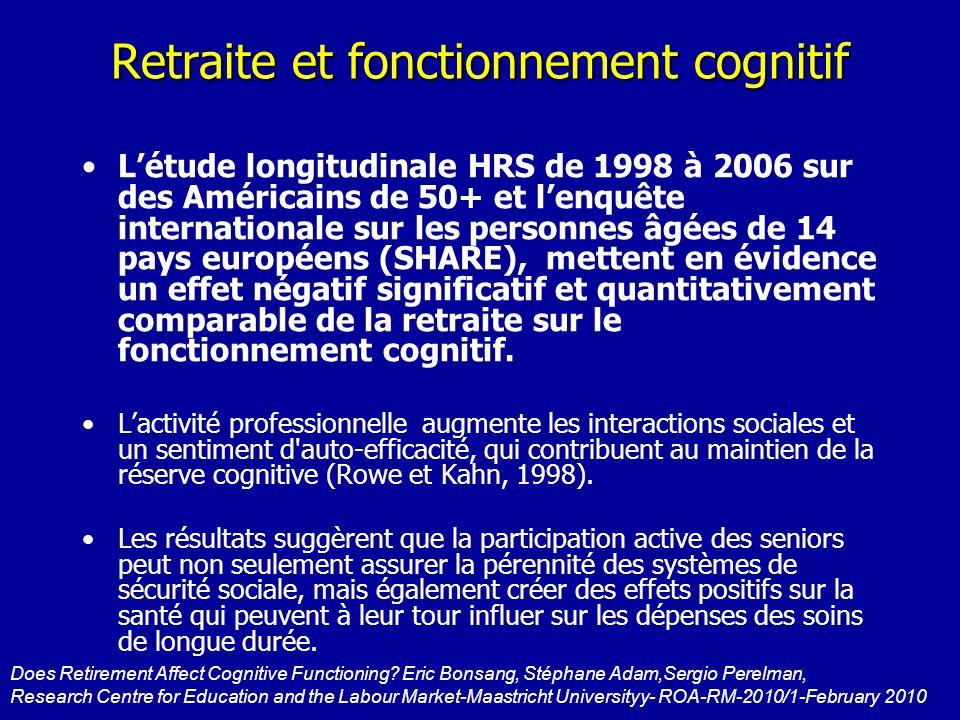 Retraite et fonctionnement cognitif