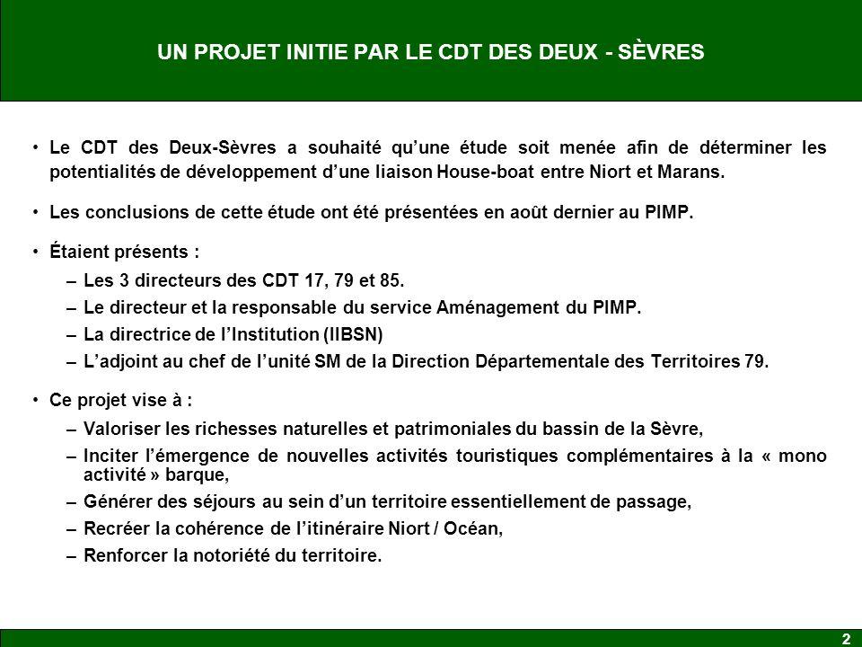 UN PROJET INITIE PAR LE CDT DES DEUX - SÈVRES