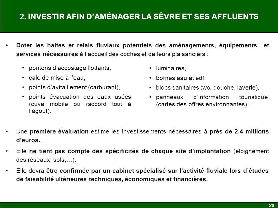 2. INVESTIR AFIN D'AMÉNAGER LA SÈVRE ET SES AFFLUENTS