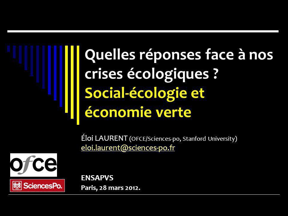Quelles réponses face à nos crises écologiques Social-écologie et