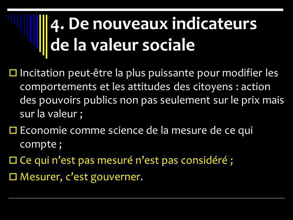 4. De nouveaux indicateurs de la valeur sociale