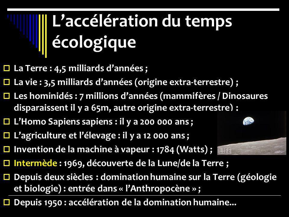 L'accélération du temps écologique