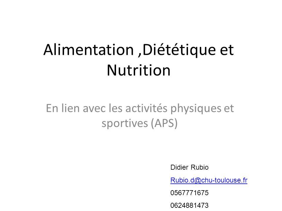 Alimentation ,Diététique et Nutrition
