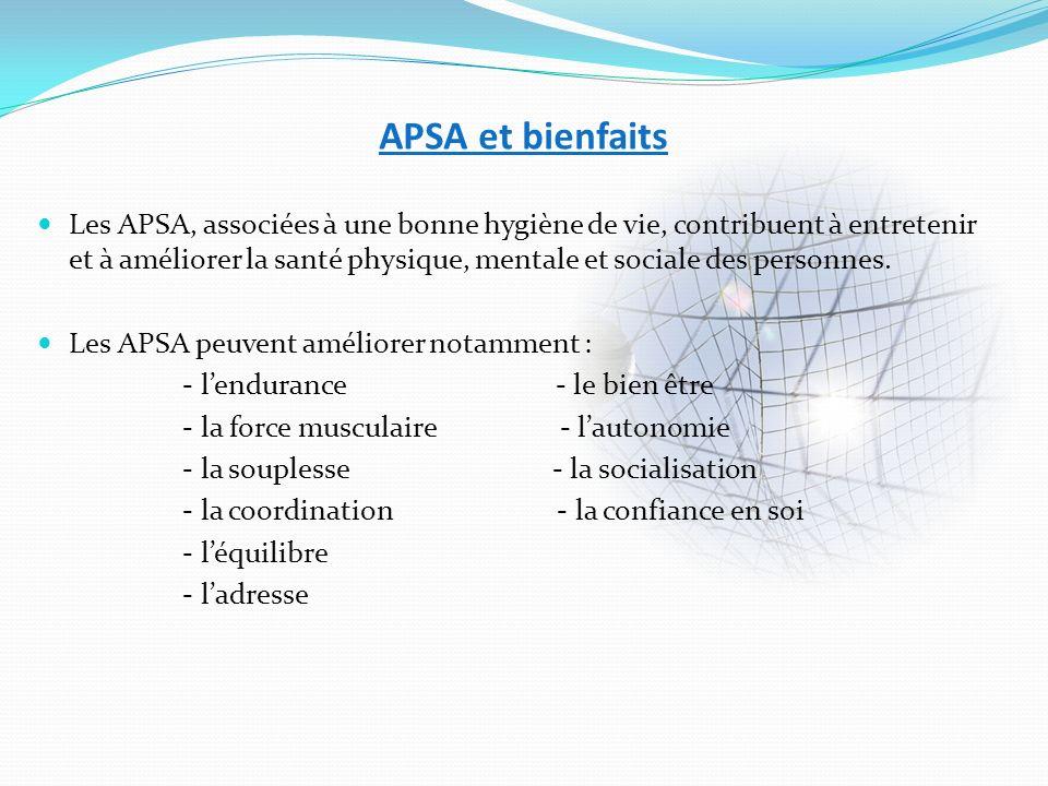 APSA et bienfaits