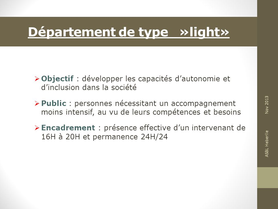 Département de type »light»