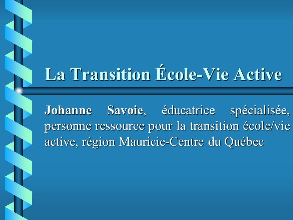 La Transition École-Vie Active