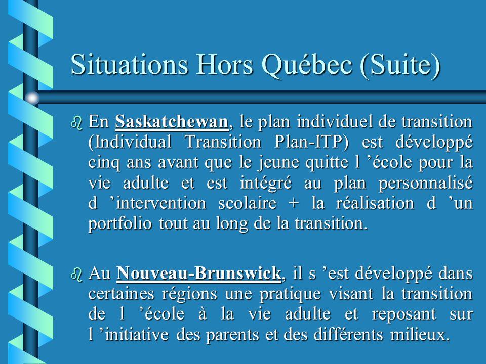 Situations Hors Québec (Suite)