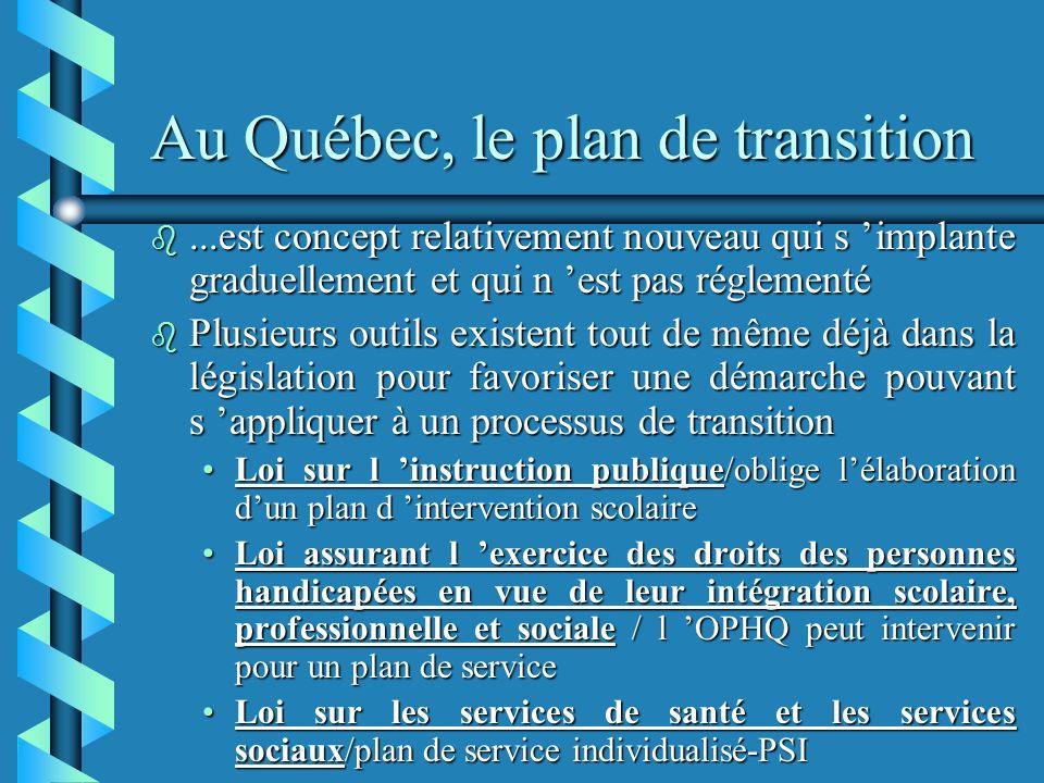 Au Québec, le plan de transition