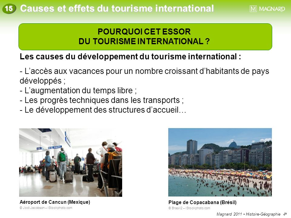 DU TOURISME INTERNATIONAL