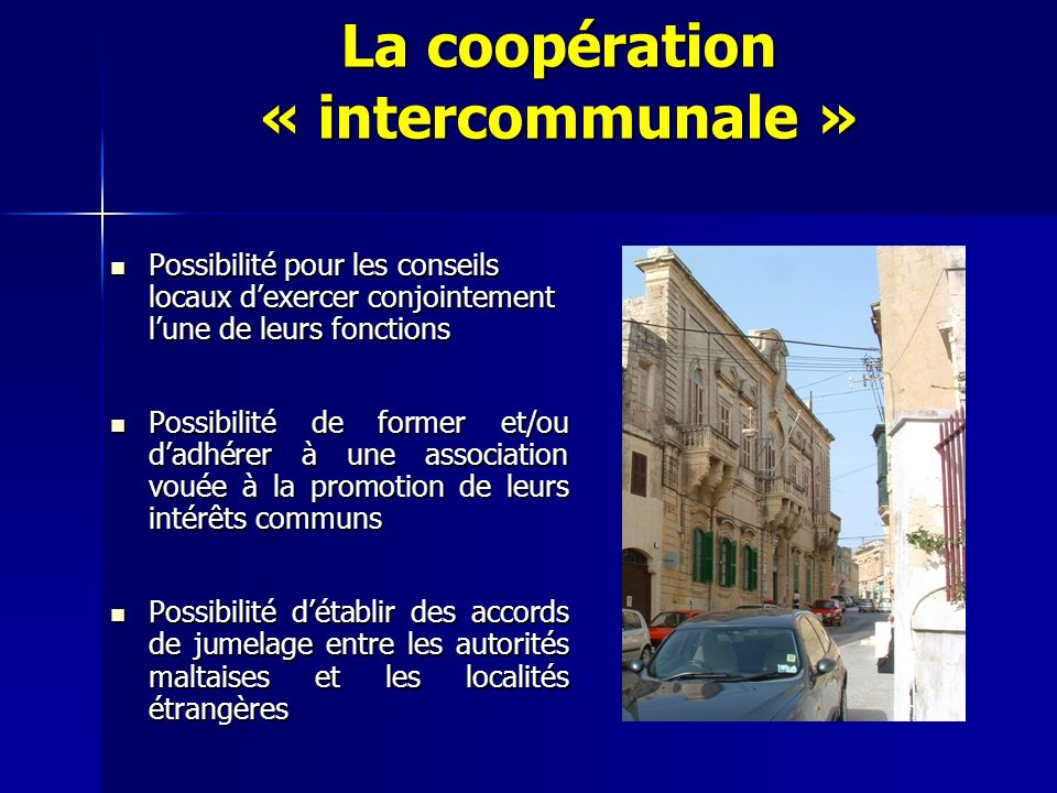 La coopération « intercommunale »