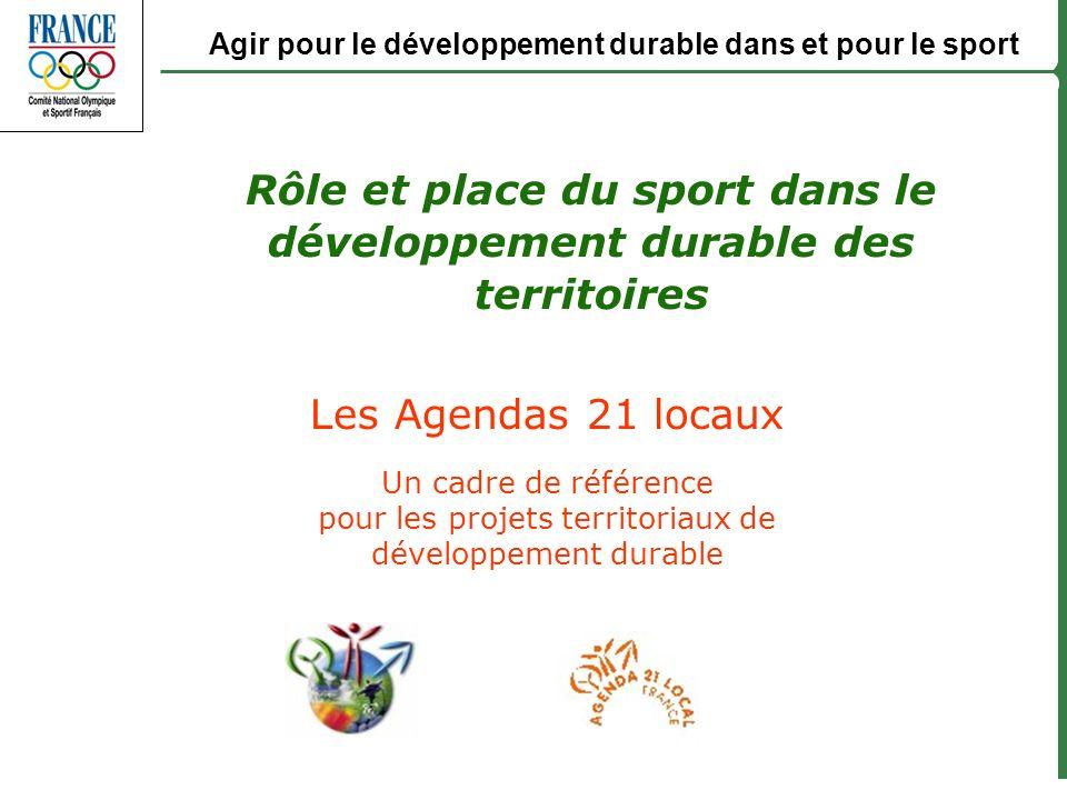 Rôle et place du sport dans le développement durable des territoires
