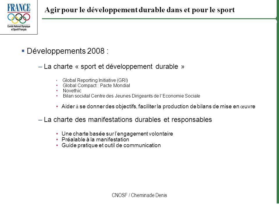 Agir pour le développement durable dans et pour le sport